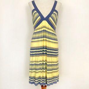 M Missoni Knit Dress Yellow Blue Stripes US 8